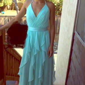 Vera wang mint dress